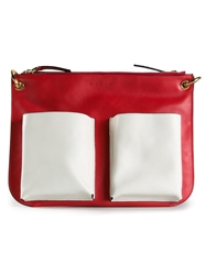 Marni Pouch Pocket Cross Body Bag Red