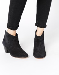 H By Hudson Kiver Black Suede Ankle Boots
