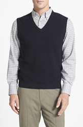 Brooks Brothers Merino Wool Pique Vest Navy