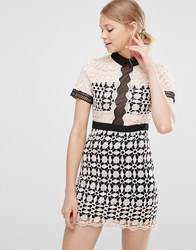 Love And Other Things Crochet Dress Pink