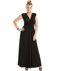 Love Squared Plus Size Sleeveless Knotted Maxi Dress Black