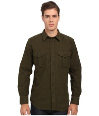 Filson Moleskin Seattle Shirt Dark Green Men's Long Sleeve Button Up