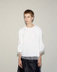 Sacai Classic Shirting Pullover White