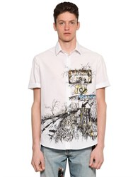 Mcq By Alexander Mcqueen Freeway Printed Cotton Canvas Shirt