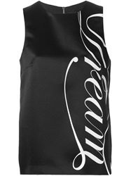 Marco Bologna Dream Print Sleeveless Top Black