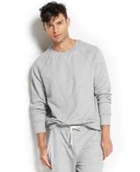 2Xist 2 X Ist Men's Loungewear Terry Pullover Sweatshirt Light Grey Heather