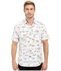 Tommy Bahama Retro Bungalow Cruis Woven Shirt White Men's Short Sleeve Button Up