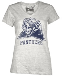 Royce Apparel Inc Women's Short Sleeve Pittsburgh Panthers V Neck T Shirt White