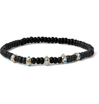 Luis Morais Onyx And Enamel Bead Bracelet Black