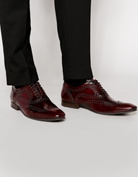 Base London Cane Patent Leather Brogues Red
