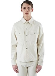 Marius Petrus Oversized Selvedge Denim Jacket Cream