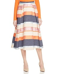 Whistles Striped Jacquard Midi Skirt 100 Bloomingdale's Exclusive Multi
