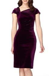 Tahari Women's Velvet Sheath Dress