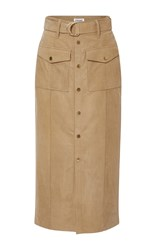 Frame Denim Le Patch Pocket Skirt Tan