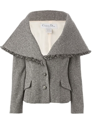 Christian Dior Vintage Large Collar Tweed Jacket