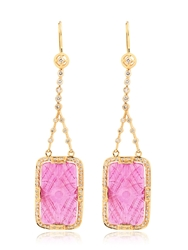 Jade Jagger Ruby And Diamonds Drop Earrings Red