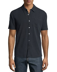 James Perse Carbon Short Sleeve Woven Shirt Charcoal