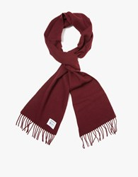 Norse Projects X Johnstons Scarf Red Clay