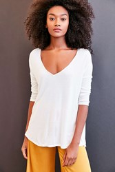 Project Social T Sapphire 3 4 Sleeve Dolman Tee White