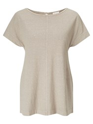 East Boat Neck Jersey Top Stone
