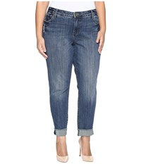 Kut From The Kloth Plus Size Amy Ankle Straight Leg Roll Up Frey Jeans In Valued Valued Women's Jeans Blue