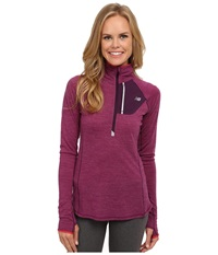 New Balance Performance Merino 1 2 Zip Top Imperial Purple Heather Cerise Women's Long Sleeve Pullover