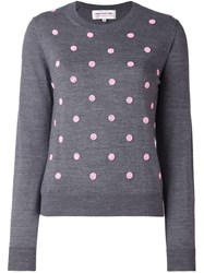 Comme Des Garcons Girl Beaded Dots Jumper Grey