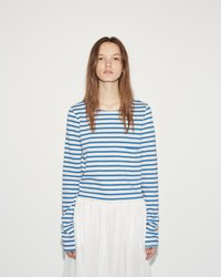 Organic By John Patrick Cropped Tee Natural Blue