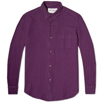 1950S Button Down Shirt Purple Oxford
