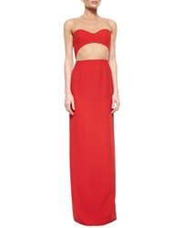 Michael Kors Sheer Back Cutout Column Gown Women's