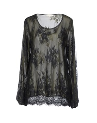 Gold Hawk Blouses Military Green