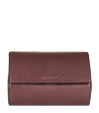 Givenchy Pandora Small Metallic Box Clutch Female Oxblood