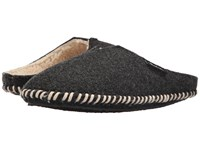 Woolrich Classic Felt Mill Scuff Black Women's Slippers