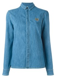 Kenzo 'Mini Tiger' Denim Shirt Blue