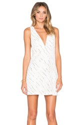 Bcbgeneration V Neck A Line Dress White