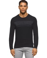 Calvin Klein Reflective Marled Stripe Crew Neck Sweater