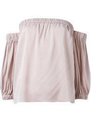 Milly Off Shoulder Top Pink And Purple