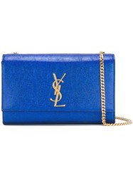Saint Laurent Medium 'Kate Monogram' Satchel Blue