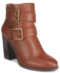 Styleandco. Style Co. Royy Block Heel Booties Only At Macy's Women's Shoes Chestnut