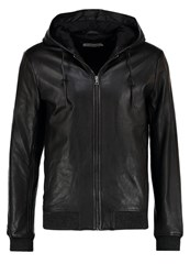 Pier One Leather Jacket Black