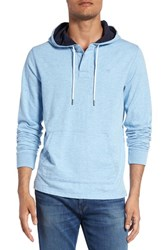 Southern Tide Men's 'Skipjack' Heathered Hoodie Light Blue
