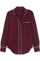 J.Crew Silk Shirt Burgundy