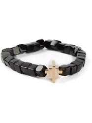 Luis Morais Gold Toggle Charm Bracelet Black