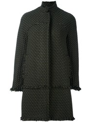 Gianluca Capannolo Frayed Zipped Coat Green