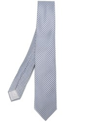 Brioni Geometric Pattern Tie Grey