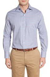 Men's Peter Millar 'Mini Pinwheel Plaid' Regular Fit Sport Shirt