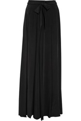 L'agence Oceane Washed Silk Maxi Skirt Black