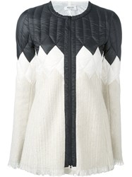 Aviu Quilted Panel Zipped Jacket White