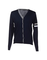 Roberto Pepe Knitwear Cardigans Men Dark Blue