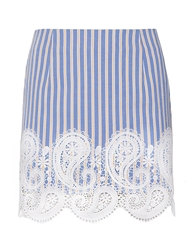 Pixie Market Paisley Crochet Stripe Mini Skirt